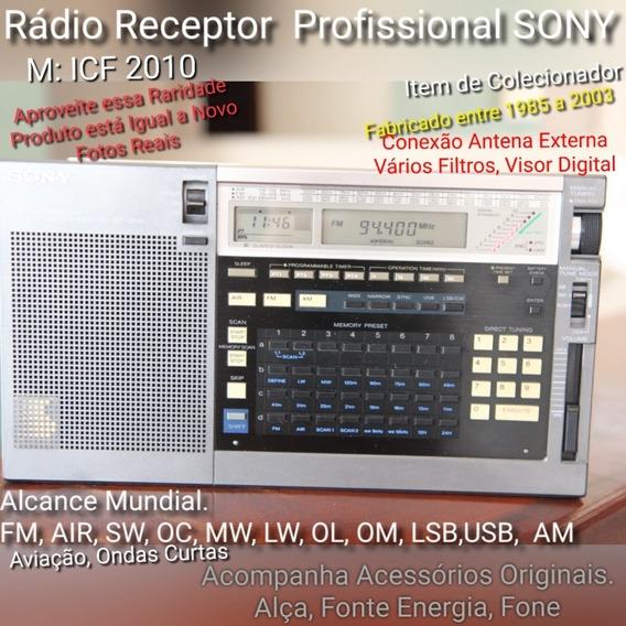 Rádio Receptor Profissional Sony Icf 2010 Air Sw Lw Mw Am Fm