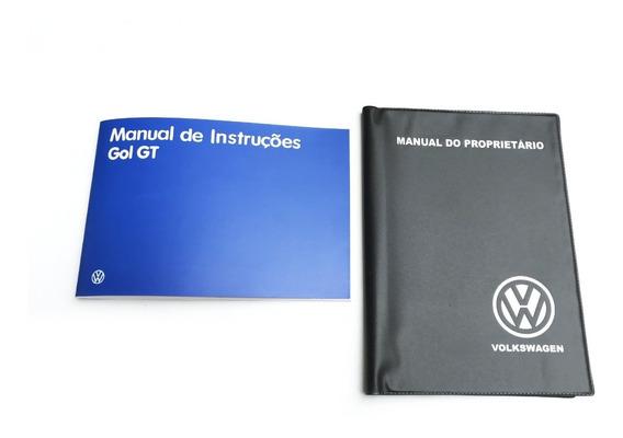 Manual Proprietário Vw Gol Gt 1986 + Capa E Adesivo Brinde