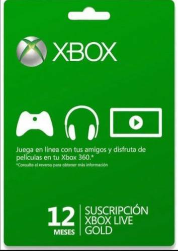 Xbox Gold 12 Meses Super Oferta