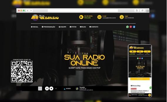 Script Site Rádio Online Em Php Responsivo Com Painel Admin