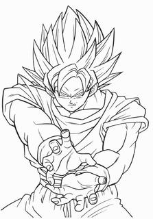 Dibujo De Goku Dragon Ball