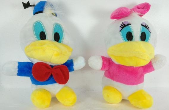 Pato Donald E Margarida Disney Pelúcias Miniaturas 16 Cm