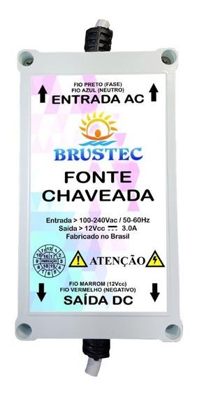 Fonte Chaveada 3 Amper Brustec