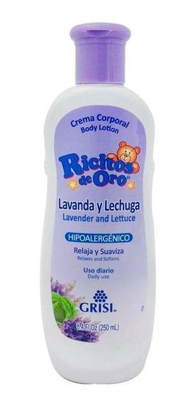 Crema Corporal Ricitos De Oro Lavanda Lechuga Grisi 250 Ml