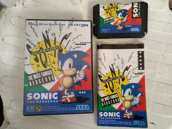 Sonic 1 Original Japonês Completo. Sega Mega Drive.