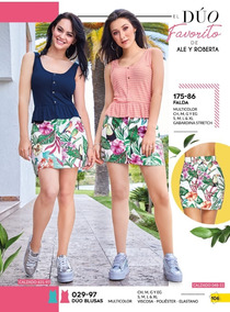 Falda Floral Multicolor Dama Cklass 175-86 Pv-2019