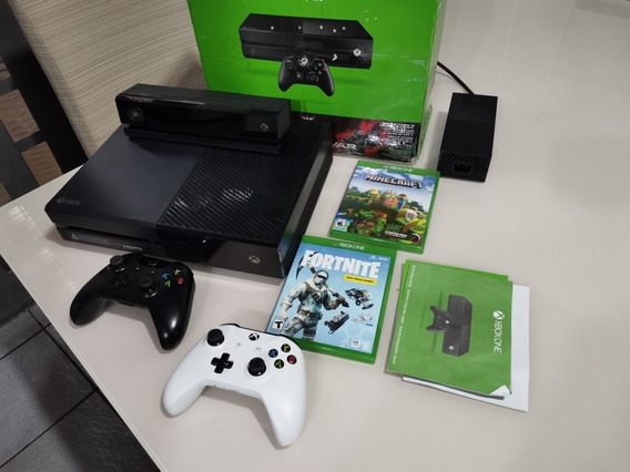 Xbox One 500gb Com Kinect Dois Controles Com Detalhes