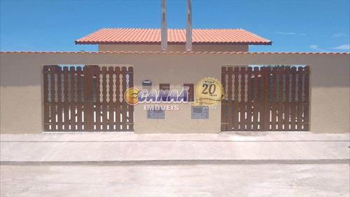 Casa Com 2 Dormitórios Em  Itanhaém - R$ 170 Mil, Cod: 6101 - V6101