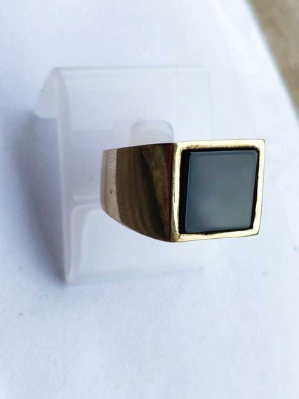Anel De Moeda Antiga Pedra Onix,anel Comendador ,dedeira.