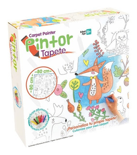 Pintor Tapete Infantil Didactico C/plumines No Lavable