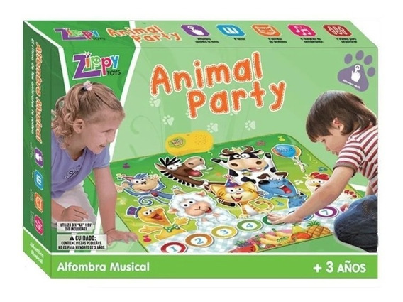 Zippy Toys Alfombra Musical Y Didactica Animal Party
