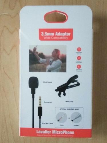 Micrófonos De Solapa 3.5mm Adaptador