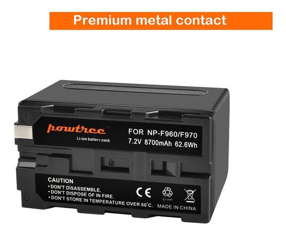 Bateria Sony Np-f960 /f970 Powtree 8700mah 7.2v