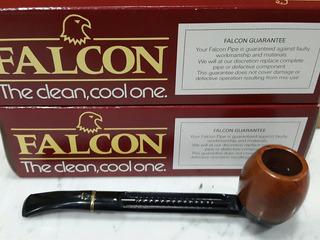 Pipa Inglesa Falcon De Luxe Curved Black Cazoleta Billiard