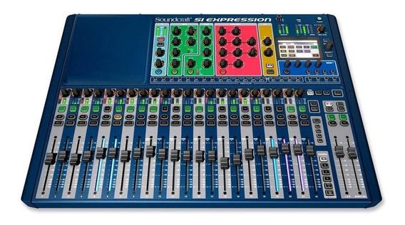 Mesa De Som Digital Si Expression 2 Soundcraft 24 Canais
