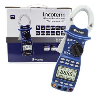 Alicate Amperimetro Digital Wattimetro Incoterm Ad530