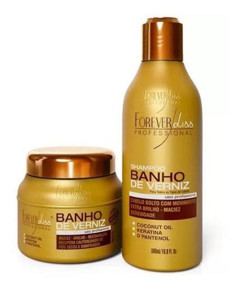 Kit Forever Liss Banho De Verniz Sh 300 Ml + Masc 200 Gr