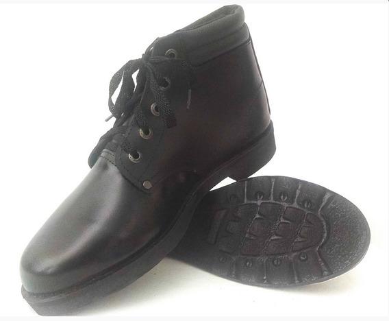 Botas En Cuero Liso Zapatos Industriales Botines Empresas