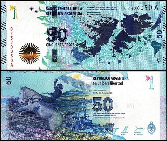 Argentina P-362a Fe 50 Pesos 2015 Comemorativa * C O L *