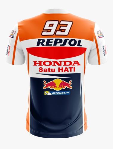 Imagem 1 de 8 de Camiseta Honda Marc Marquez Camisa Moto Gp Motogp Lu.009