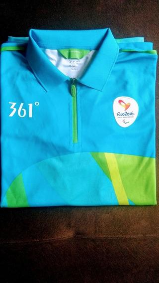 Camiseta Oficial Técnico Jogos Paralímpicos Rio 2016