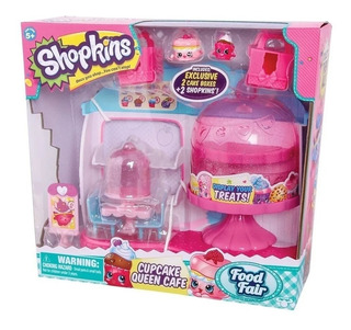 Shopkins Cupcake Queen Cafe + 2 Figuras Playset Tv Educando