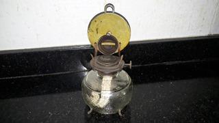 Antigo Lampião Candeeiro De Vidrão A Querosene