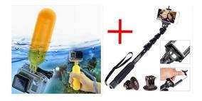 Bastão Retrátil 123cm E Bastão Bobber Flutuante Gopro Sjcam