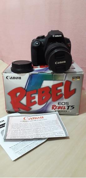 Câmera Canon T5 Com Lente Do Kit 18-55
