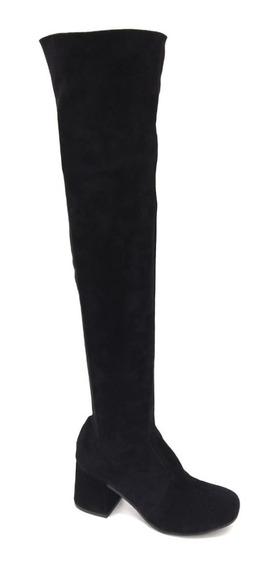 Zapatos Botas Bucaneras Dama Taco Bajo Elastizadas Moda