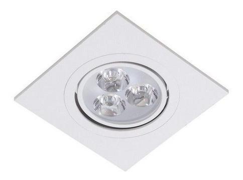 Spot Led Embutir Quadrado L&d Direciona 3w Branco Fria 0438