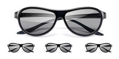 Kit 4 Oculos 3d Passivo LG
