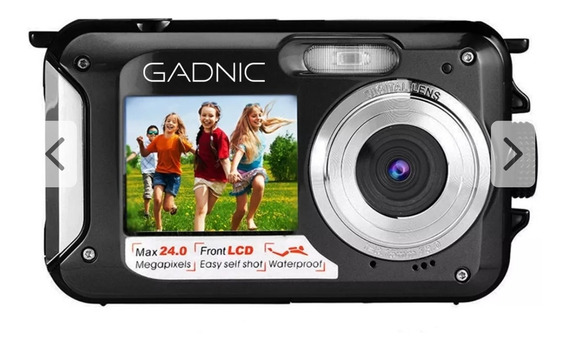 Cámara Digital Gadnic Waterproof 24 Mp 2.7 Doble Lcd