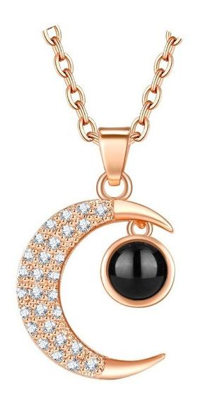 Gargantilla Collar Luna 100 Idiomas Cristales Fantasía Novia