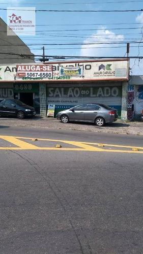 Salão Para Alugar, 362 M² Por R$ 5.900/mês - Vila Alto De Santo André - Santo André/sp - Sl0034