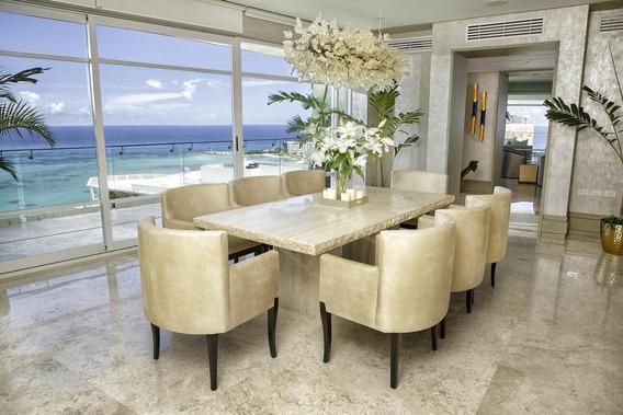 Departamento Pent-house Amueblado En Renta, 5 Recamaras, En Punta Cancún Zona Hotelera