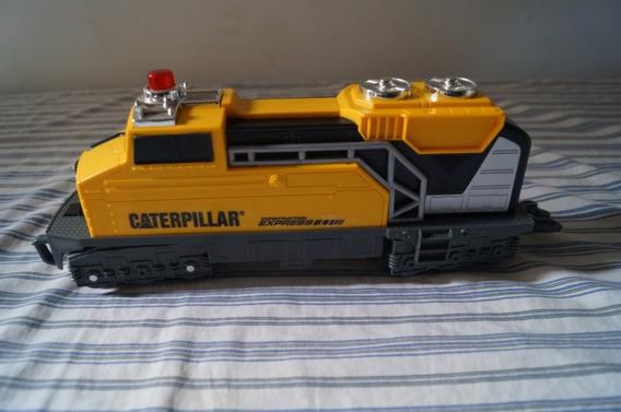 Locomotiva Caterpillar Com 30 Cm A Pilha