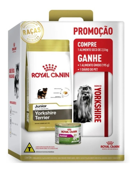 Ração Royal Canin Junior Yorkshire Terrier 2,5 Kg
