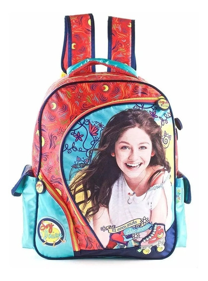 Mochila Escolar Soy Luna Grande 17 Pulgadas Oferta Original