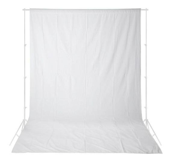 Fundo Infinito Em Tecido Oxford Lavável 3m X 5m - Branco