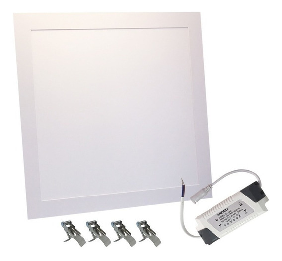 Plafon Led Luminaria Embutir 42w 40x40cm Branco Frio 6500k