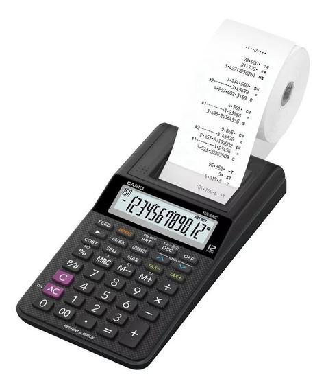 Calculadora 12 Digitos Casio Com Impressão Bobina Hr-8rc-bk