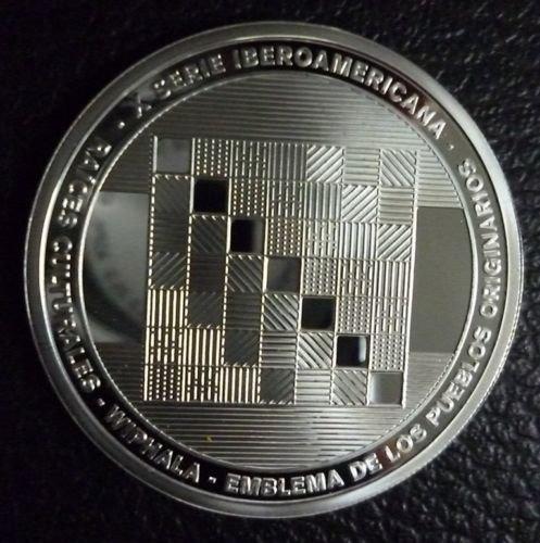 Moneda Raices Bandera Wiphala 2015 De Plata Certificado