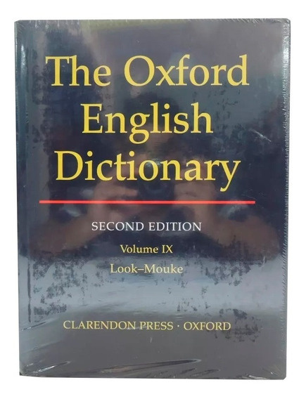 Livro The Oxford English Dictionary 2nd Vol. 9 Em Inglês