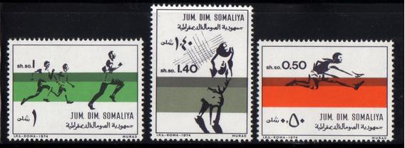 Estampillas Somalia 1974 Deportes Serie Mint