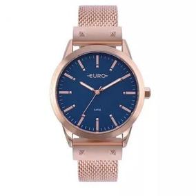 Relógio Feminino Rose Eu2035yom/4a Analógico Euro Nfe, Caixa