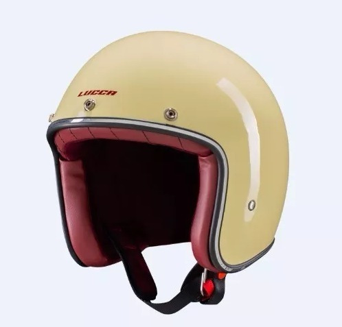 Kit Capacete Lucca Custom Old School Glossy Cream - Full