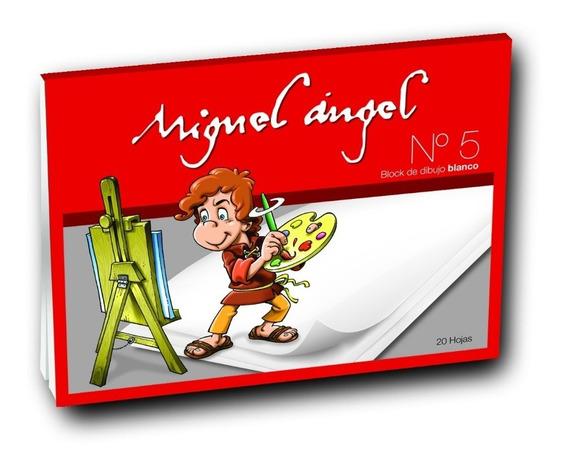 Block De Dibujo Blanco Miguel Angel 20 Hojas Nº5