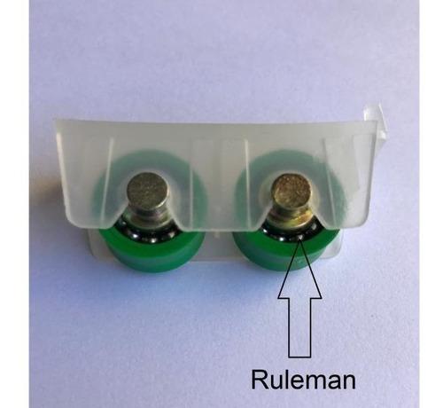 Rueda Doble Para Ventanas De Aluminio Herrero Con Ruleman