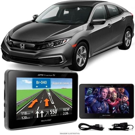 Navegador Gps Automotivo Honda Civic Novo Tela 4.3 Touch Voz